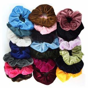 Velvet Elastic Hair Scrunchies (20-Pack)